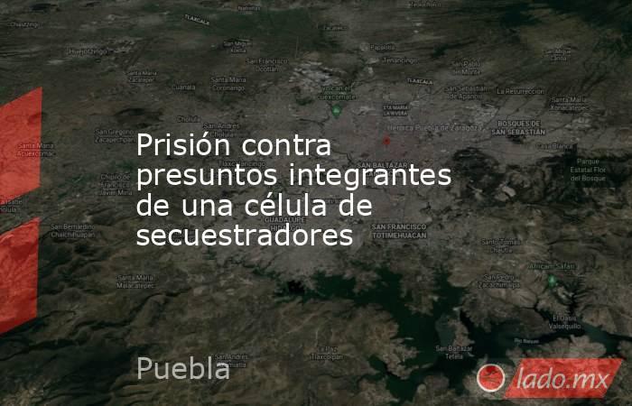 Prisión contra presuntos integrantes de una célula de secuestradores. Noticias en tiempo real