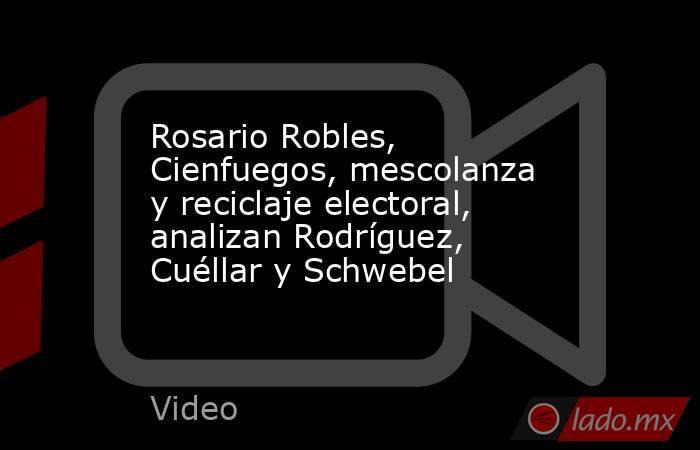 Rosario Robles, Cienfuegos, mescolanza y reciclaje electoral, analizan Rodríguez, Cuéllar y Schwebel. Noticias en tiempo real