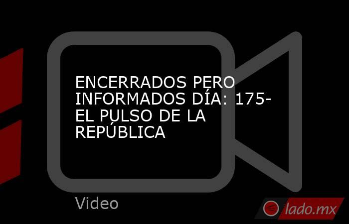 ENCERRADOS PERO INFORMADOS DÍA: 175- EL PULSO DE LA REPÚBLICA. Noticias en tiempo real