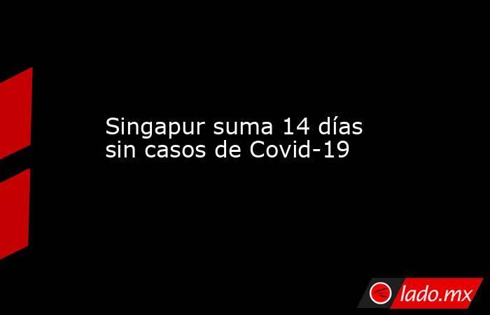 Singapur suma 14 días sin casos de Covid-19. Noticias en tiempo real