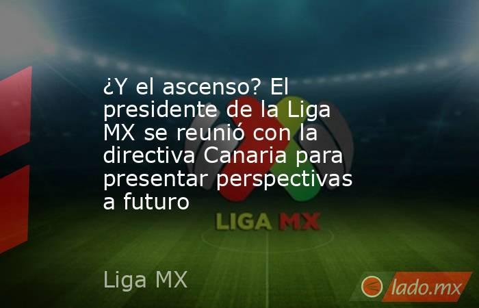 ¿Y el ascenso? El presidente de la Liga MX se reunió con la directiva Canaria para presentar perspectivas a futuro. Noticias en tiempo real
