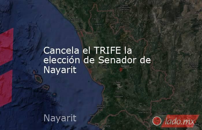 Cancela el TRIFE la elección de Senador de Nayarit. Noticias en tiempo real