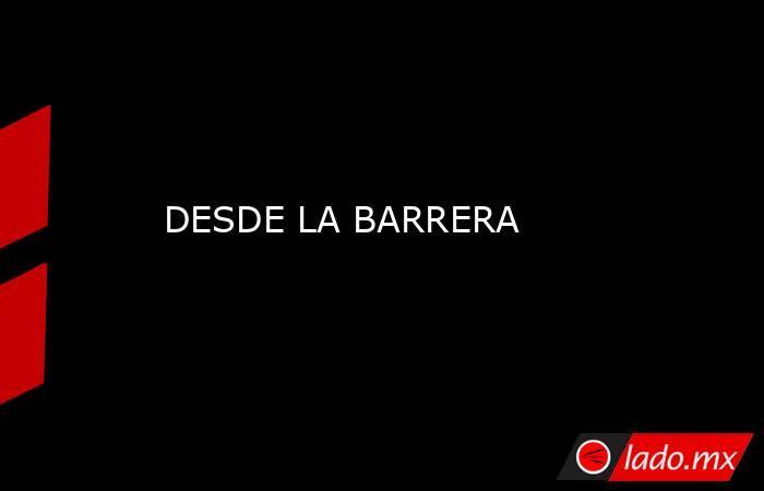 DESDE LA BARRERA. Noticias en tiempo real