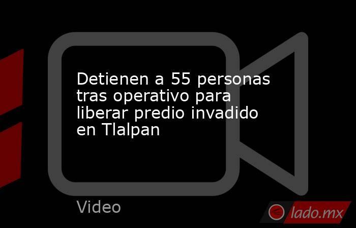 Detienen a 55 personas tras operativo para liberar predio invadido en Tlalpan. Noticias en tiempo real