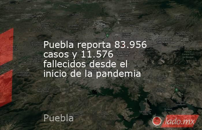 Puebla reporta 83.956 casos y 11.576 fallecidos desde el inicio de la pandemia. Noticias en tiempo real
