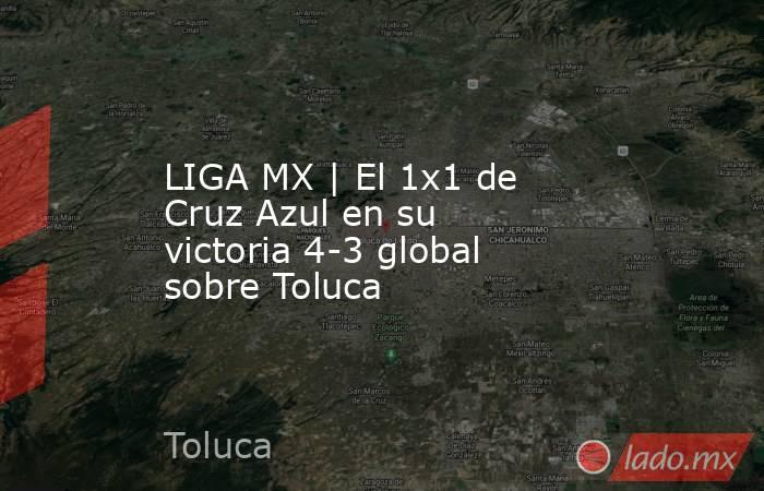 LIGA MX   El 1x1 de Cruz Azul en su victoria 4-3 global sobre Toluca. Noticias en tiempo real