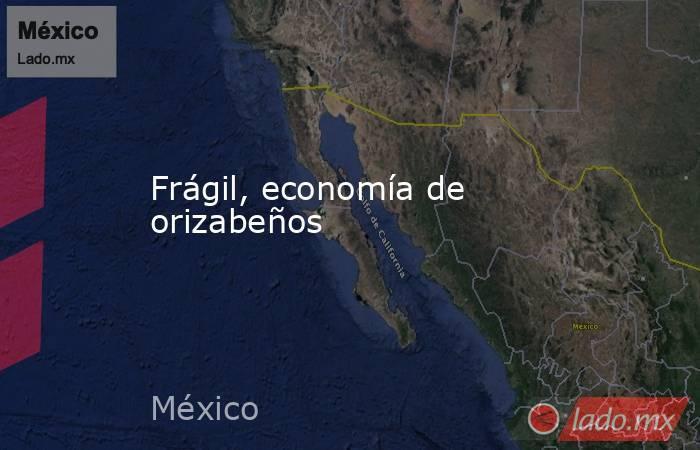 Frágil, economía de orizabeños. Noticias en tiempo real