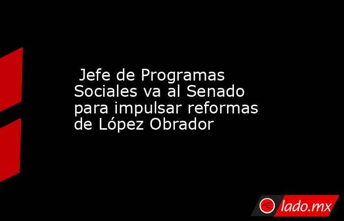 Jefe de Programas Sociales va al Senado para impulsar reformas de López Obrador. Noticias en tiempo real
