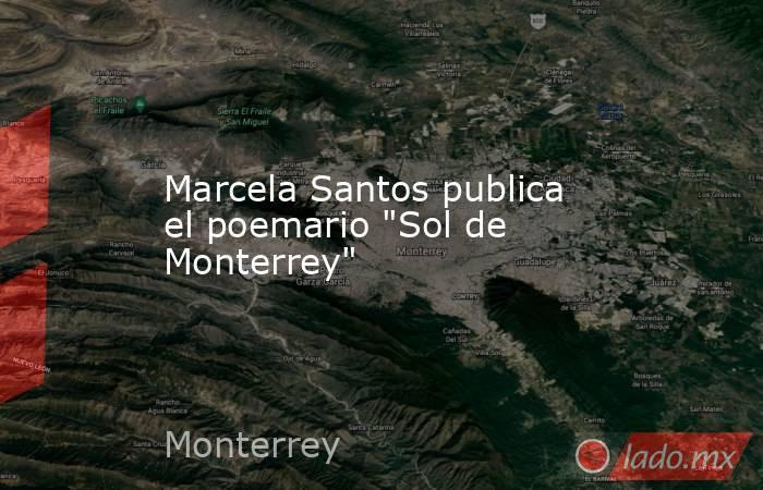 Marcela Santos publica el poemario