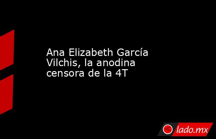 Ana Elizabeth García Vilchis, la anodina censora de la 4T. Noticias en tiempo real