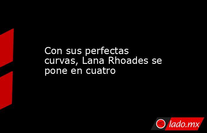 Con sus perfectas curvas, Lana Rhoades se pone en cuatro. Noticias en tiempo real