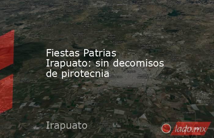 Fiestas Patrias Irapuato: sin decomisos de pirotecnia . Noticias en tiempo real