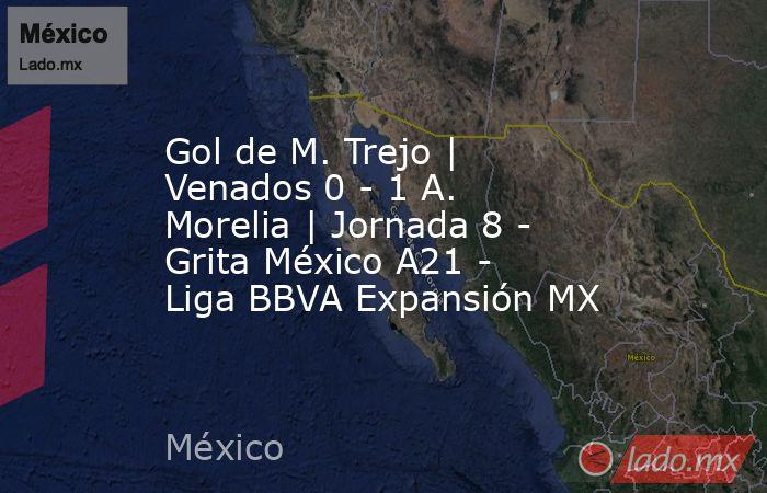 Gol de M. Trejo | Venados 0 - 1 A. Morelia | Jornada 8 - Grita México A21 - Liga BBVA Expansión MX. Noticias en tiempo real