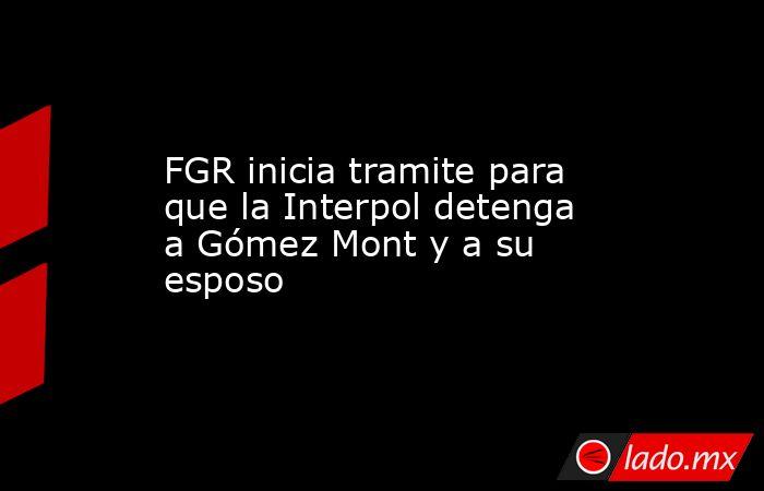FGR inicia tramite para que la Interpol detenga a Gómez Mont y a su esposo. Noticias en tiempo real