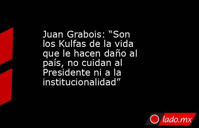 """Juan Grabois: """"Son los Kulfas de la vida que le hacen daño al país, no cuidan al Presidente ni a la institucionalidad"""". Noticias en tiempo real"""