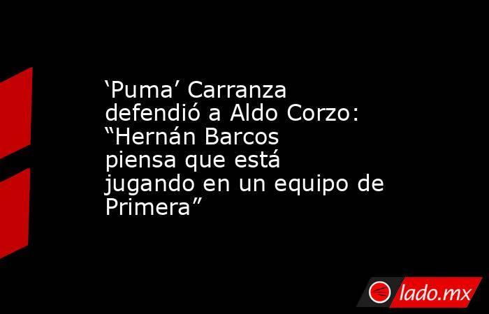 """'Puma' Carranza defendió a Aldo Corzo: """"Hernán Barcos piensa que está jugando en un equipo de Primera"""". Noticias en tiempo real"""
