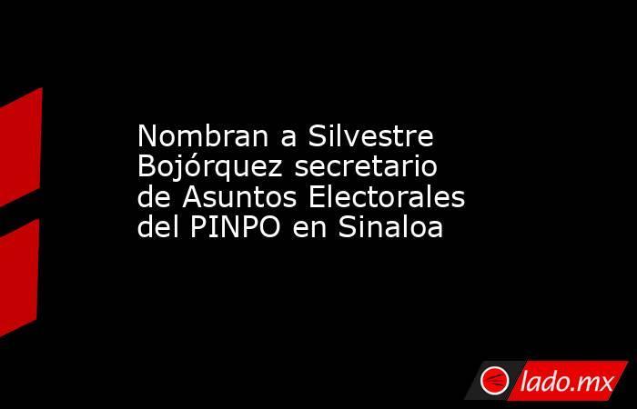 Nombran a Silvestre Bojórquez secretario de Asuntos Electorales del PINPO en Sinaloa. Noticias en tiempo real