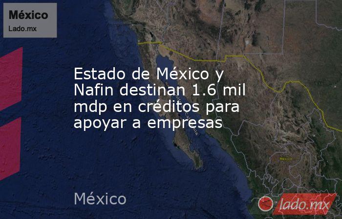 Estado de México y Nafin destinan 1.6 mil mdp en créditos para apoyar a empresas. Noticias en tiempo real