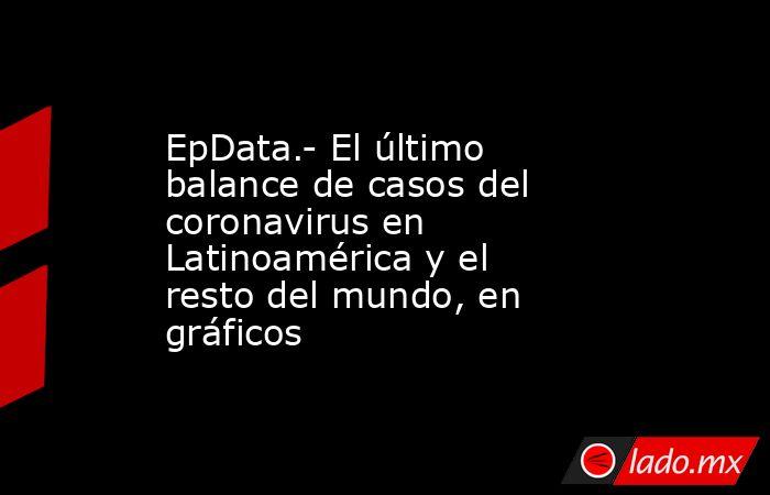 EpData.- El último balance de casos del coronavirus en Latinoamérica y el resto del mundo, en gráficos. Noticias en tiempo real