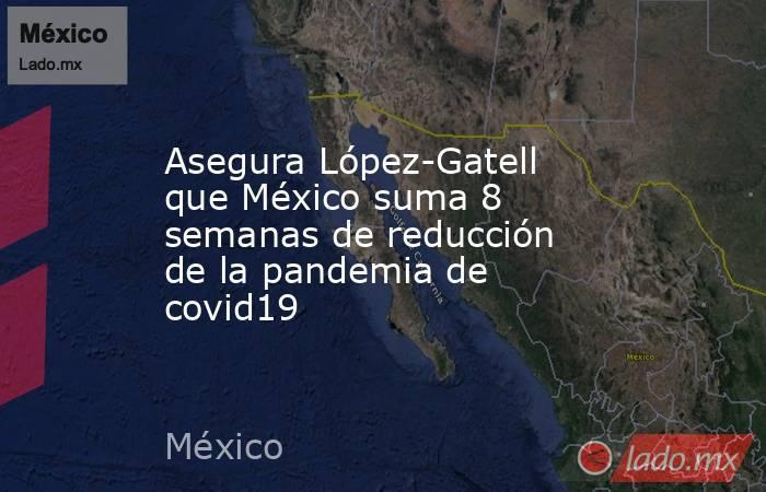 Asegura López-Gatell que México suma 8 semanas de reducción de la pandemia de covid19. Noticias en tiempo real