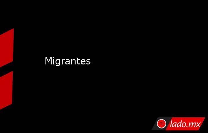 Migrantes. Noticias en tiempo real