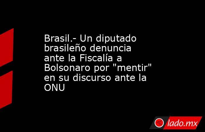 Brasil.- Un diputado brasileño denuncia ante la Fiscalía a Bolsonaro por