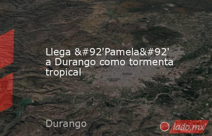 Llega \'Pamela\' a Durango como tormenta tropical. Noticias en tiempo real
