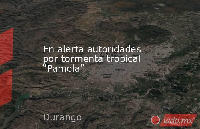 """En alerta autoridades por tormenta tropical """"Pamela"""". Noticias en tiempo real"""
