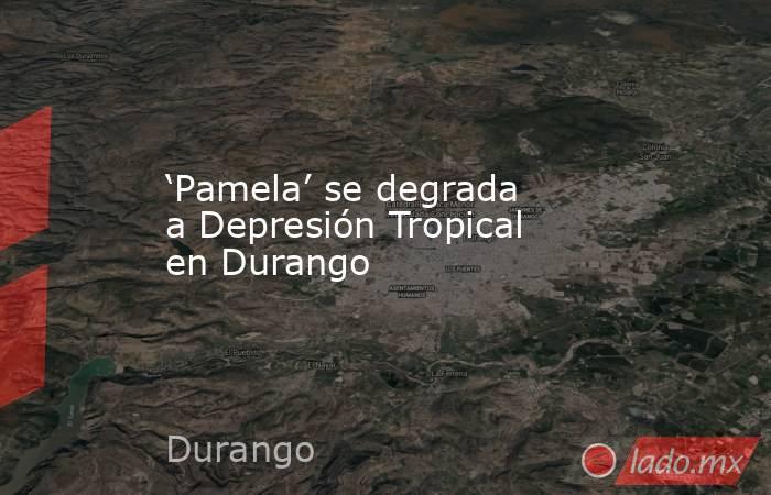 'Pamela' se degrada a Depresión Tropical en Durango. Noticias en tiempo real