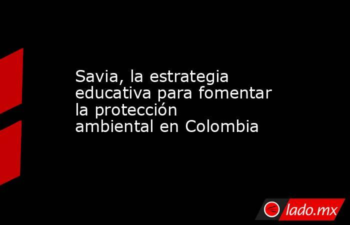 Savia, la estrategia educativa para fomentar la protección ambiental en Colombia. Noticias en tiempo real