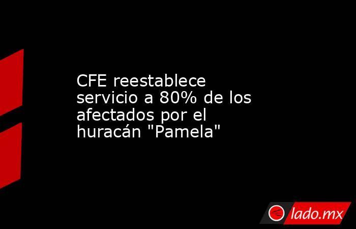 CFE reestablece servicio a 80% de los afectados por el huracán