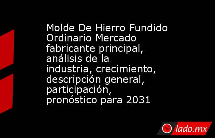 Molde De Hierro Fundido Ordinario Mercado fabricante principal, análisis de la industria, crecimiento, descripción general, participación, pronóstico para 2031. Noticias en tiempo real