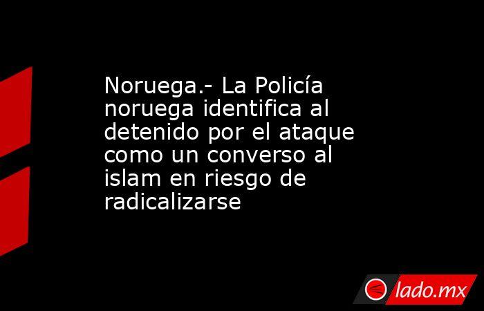 Noruega.- La Policía noruega identifica al detenido por el ataque como un converso al islam en riesgo de radicalizarse. Noticias en tiempo real