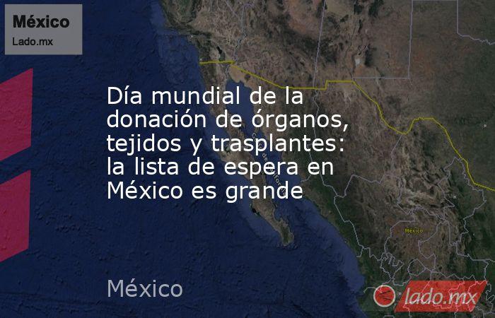 Día mundial de la donación de órganos, tejidos y trasplantes: la lista de espera en México es grande. Noticias en tiempo real