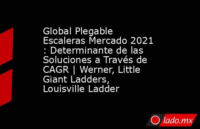 Global Plegable Escaleras Mercado 2021 : Determinante de las Soluciones a Través de CAGR | Werner, Little Giant Ladders, Louisville Ladder. Noticias en tiempo real