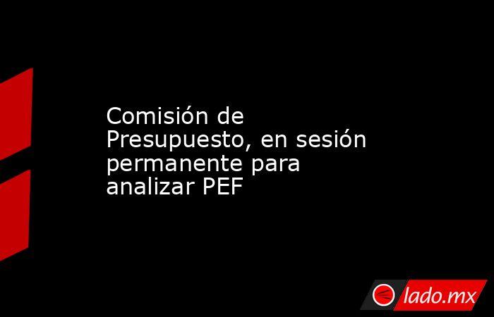 Comisión de Presupuesto, en sesión permanente para analizar PEF. Noticias en tiempo real