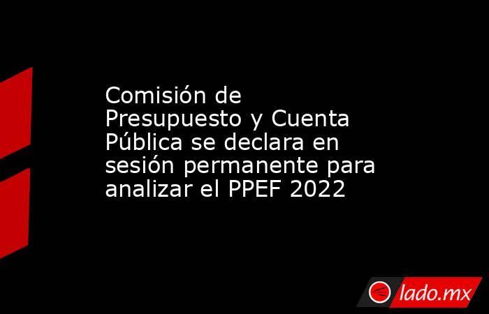 Comisión de Presupuesto y Cuenta Pública se declara en sesión permanente para analizar el PPEF 2022. Noticias en tiempo real