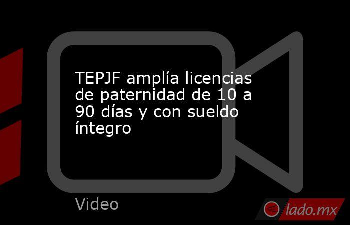TEPJF amplía licencias de paternidad de 10 a 90 días y con sueldo íntegro. Noticias en tiempo real