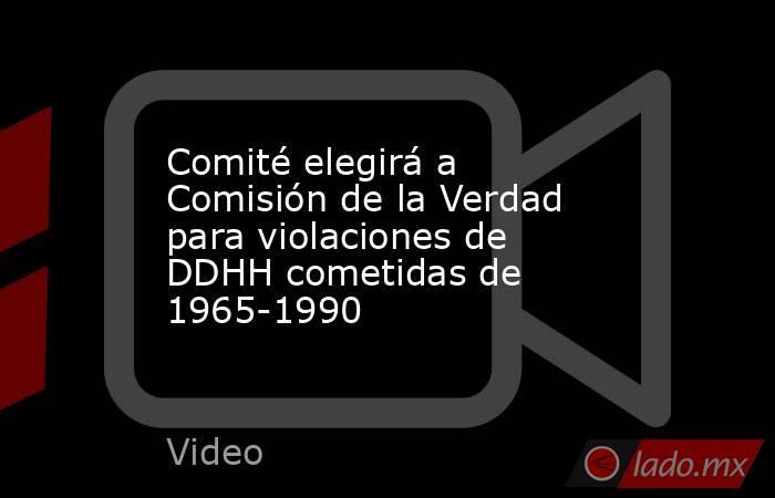 Comité elegirá a Comisión de la Verdad para violaciones de DDHH cometidas de 1965-1990. Noticias en tiempo real
