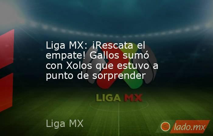 Liga MX: ¡Rescata el empate! Gallos sumó con Xolos que estuvo a punto de sorprender. Noticias en tiempo real