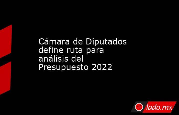 Cámara de Diputados define ruta para análisis del Presupuesto 2022. Noticias en tiempo real