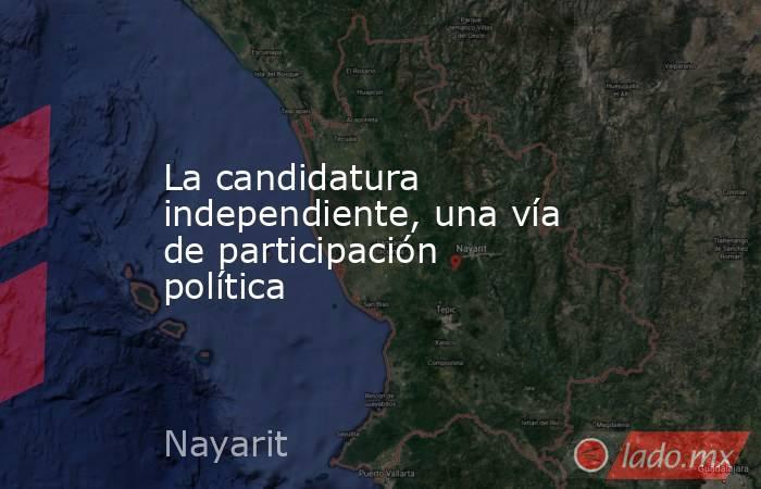 La candidatura independiente, una vía de participación política. Noticias en tiempo real