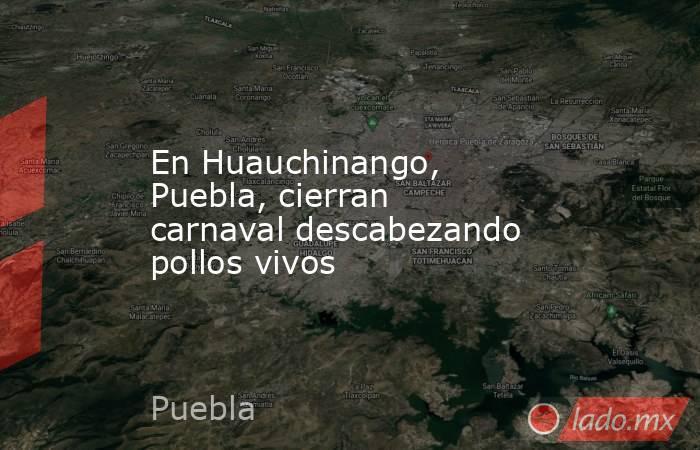 En Huauchinango, Puebla, cierran carnaval descabezando pollos vivos. Noticias en tiempo real