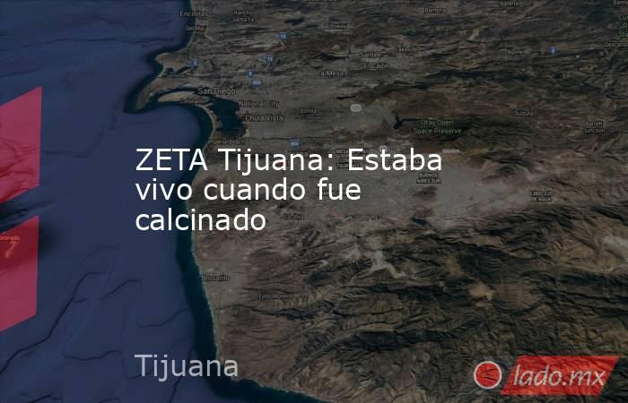 ZETA Tijuana: Estaba vivo cuando fue calcinado. Noticias en tiempo real