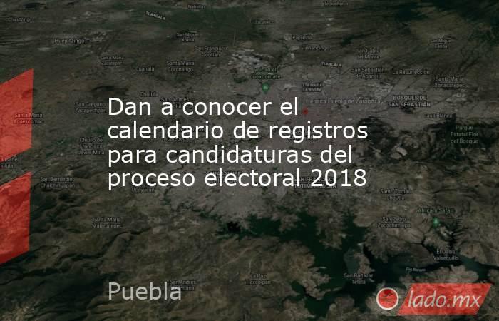 Dan a conocer el calendario de registros para candidaturas del proceso electoral 2018. Noticias en tiempo real